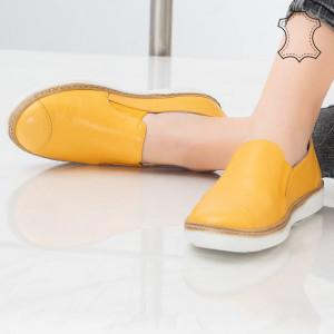 Bok sárga természetes bőr cipő