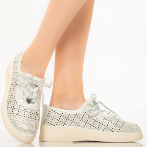 Pantofi dama Sian argintii