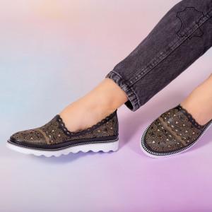 Pantofi piele naturala Bes negri