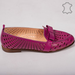Pantofi piele naturala Bio mov