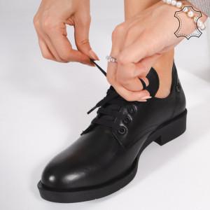 Pantofi Piele Naturala BRAN Negri