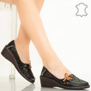 Pantofi piele naturala Bui negri