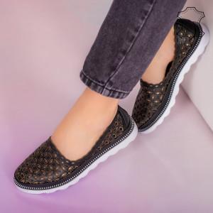 Pantofi piele naturala Bun negri