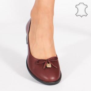 Pantofi Piele Naturala CROD Bordo