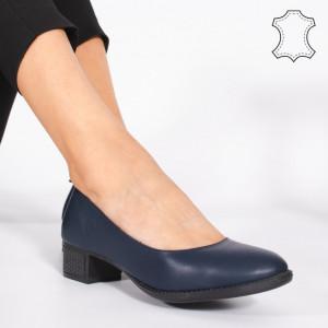 Pantofi Piele Naturala DOL Albastri