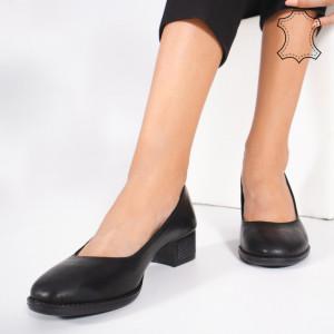 Pantofi Piele Naturala DOL Negri