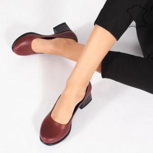 Pantofi Piele Naturala FELY Bordo