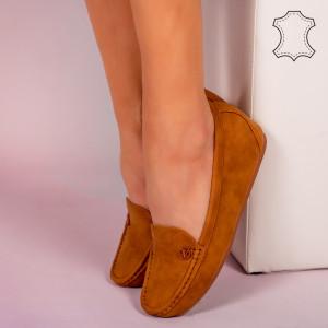 Pantofi piele naturala Mariu camel