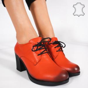 Pantofi Piele Naturala VIR Rosii