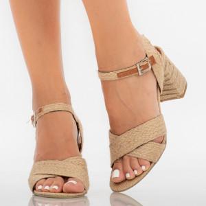 Sandale dama Anysa bej