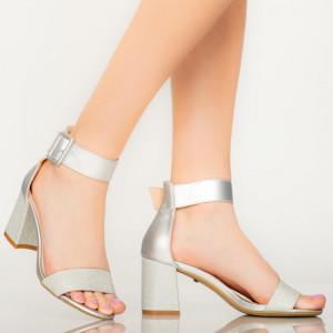 Sandale dama Aria argintii