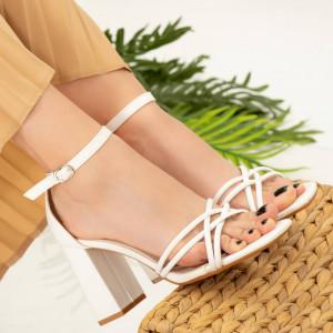 Sandale dama Dalas albe