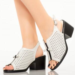 Sandale dama Gino albe