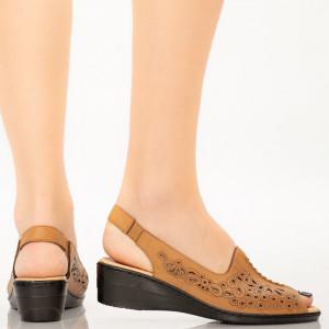 Sandale dama Goni camel