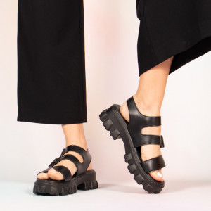 Sandale dama Panna negre