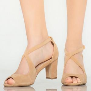 Sandale dama Ursa bej