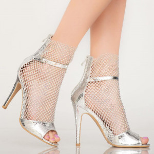 Sandale dama Yaco argintii