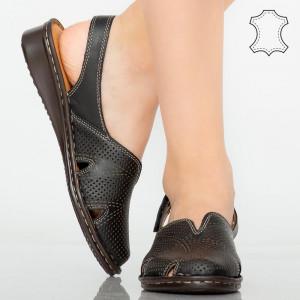 Sandale piele naturala Arus negre