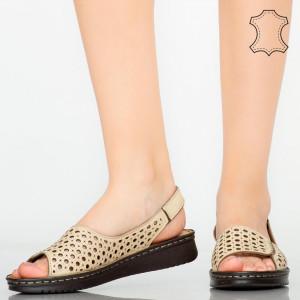 Sandale piele naturala Baly bej