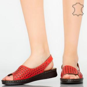 Sandale piele naturala Baly rosii