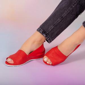 Sandale piele naturala Bet rosii