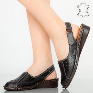 Sandale piele naturala Cest negre