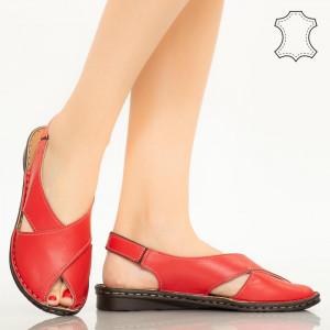 Sandale piele naturala Dom rosii