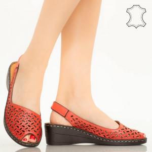 Sandale piele naturala Goy rosii