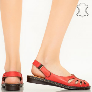 Sandale piele naturala Lya rosii
