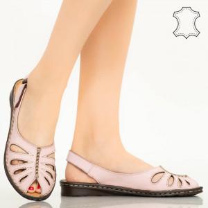 Sandale piele naturala Lya roz