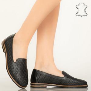 Velha fekete valódi bőr cipő