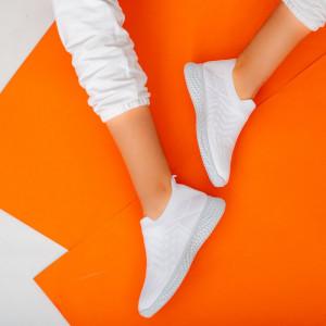 Γυναικεία λευκά πάνινα παπούτσια