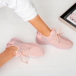 Ροζ πάνινα παπούτσια της Lady Larry