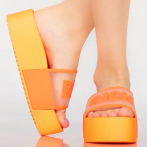 Богато оранжеви дамски пантофи