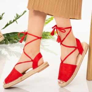 Теро червени дамски сандали