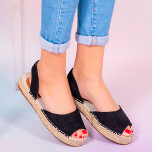 Черни дамски сандали Heto
