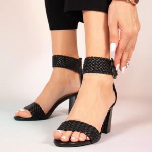 Черни дамски сандали Peto