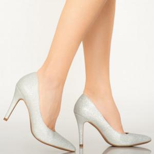 Biztos ezüst női cipő
