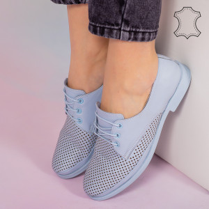 Kék Boe valódi bőr cipő