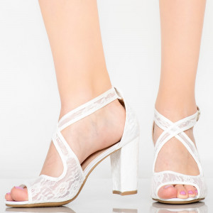 Lady Aso white sandals