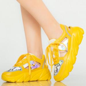 Miu sárga női cipők