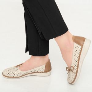 Női cipő Ape bézs