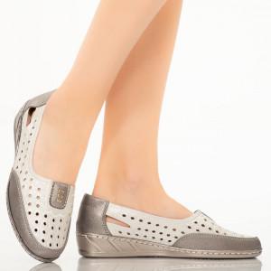 Pantofi dama Alio argintii