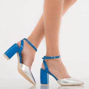 Pantofi dama Giovanna argintii