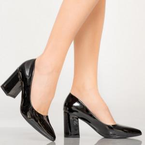 Pantofi dama Rila negri lacuiti