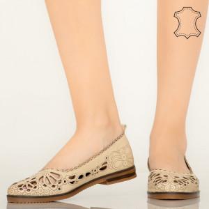 Pantofi piele naturala Betim bej