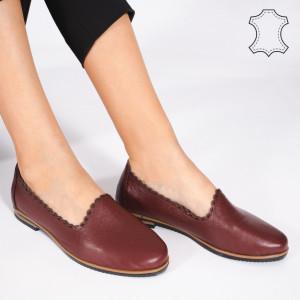 Pantofi Piele Naturala BUR Bordo