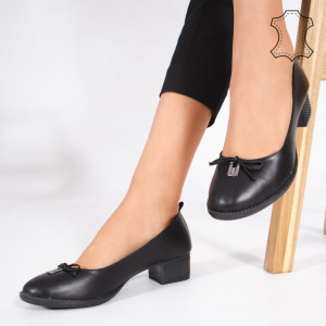 Pantofi Piele Naturala CROD Negri