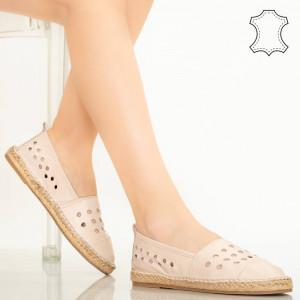Pantofi piele naturala Dove roz