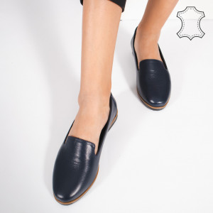 Pantofi Piele Naturala DUM Albastri